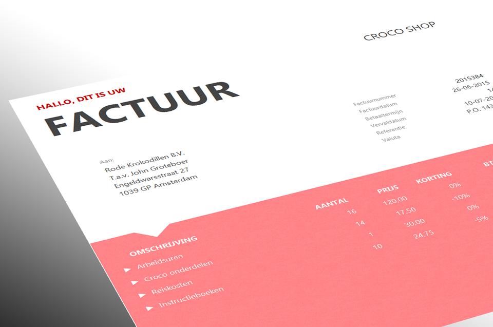 factuur design Factuur Design | gantinova